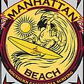 Manhattan Beach California Surfing by Larry Butterworth