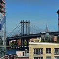 Manhattan Bridge From Brooklyn by Paulette B Wright