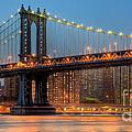 Manhattan Bridge Panoramic by Clarence Holmes
