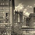 Manhattan Bridge Peeking Through by Jeff Watts