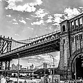 Manhattan Bridge - Pike And Cherry Streets by Bill Cannon