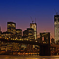 Manhattan By Night by Melanie Viola