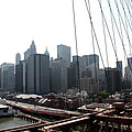 Manhattan From The Brooklyn Bridge by Christiane Schulze Art And Photography