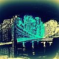 Manhattan In Blue by Irving Starr