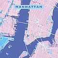 Manhattan Map Graphic by Gary Grayson