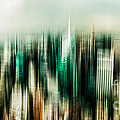Manhattan Panorama Abstract by Hannes Cmarits