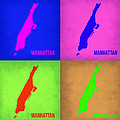 Manhattan Pop Art Map 1 by Naxart Studio