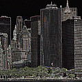 Manhattan Skyline Abstract by Christiane Schulze Art And Photography