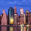 Manhattan Skyline At Sunrise by John McGraw