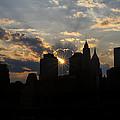 Manhattan Skyline At Sunset by Eduard Moldoveanu