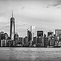 Manhattan Skyline Black And White by David Morefield