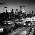 Manhattan Skyline Dusk 1980s by Gary Eason