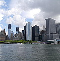 Manhattan Skyline From The Hudson River by Christiane Schulze Art And Photography