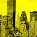 Manhattan Skyline In Yellow by Valentino Visentini