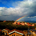 Spanish Landscape Rainbow And Ocean View by Carlos Tello