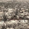Manitou To The South In Snow Close Up by Lanita Williams