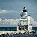 Manitowoc Breakwater Lighthouse by Joan Carroll