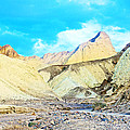 Manly Beacon From Golden Canyon In Death Valley National Park-california by Ruth Hager