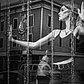 Mannequin In Storefront Shop Window In Black And White by Randall Nyhof