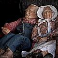 Mannequin Old Couple In Shop Window Display Color Photo by Randall Nyhof