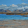 Mannin Bay And The Twelve Bens Mountains Connemara Ireland by Diana Shephard