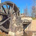 Mansfield Mill Water Wheel by Thomas Sellberg