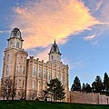 Manti Temple Morning by David Andersen