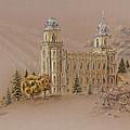 Manti Utah Lds Temple by Pris Hardy