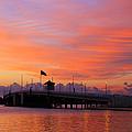 Mantoloking Bridge At Dawn by Roger Becker