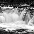 Many Falls - Bw by Paul W Faust -  Impressions of Light