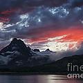 Many Glacier Sunset by Mark Kiver