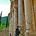 Many Photographers At Library Of Celsus-ephesus by Ruth Hager