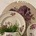 Many Rose Designs Still Life  by Sandra Foster