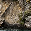 Maori Rock Carving by Bob Phillips