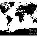 Map In Black And White by Jackie Farnsworth