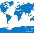 Map In Blue by Jackie Farnsworth