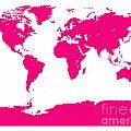Map In Pink by Jackie Farnsworth