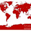 Map In Red by Jackie Farnsworth