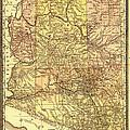 Map Of Arizona 1883 by Mountain Dreams
