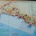 Map Of Cinque Terre by Caroline Stella