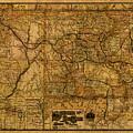 Map Of Denver Rio Grande Railroad System Including New Mexico Circa 1889 by Design Turnpike