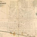 Map Of Detroit by A Bell