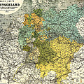 Map Of Germany 1861 by Mountain Dreams