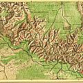Map Of Grand Canyon National Park by MotionAge Designs