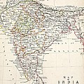 Map Of India by Alexander Keith Johnson