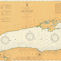 Map Of Lake Ontario 1904 by Andrew Fare