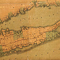 Map Of Long Island 1888 by Andrew Fare