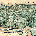 Map Of Manhattan by Egbert Viele