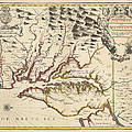 Map Of Maryland 1676 by Andrew Fare