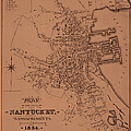 Map Of Nantucket 1834 by Andrew Fare